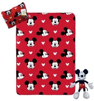 Mickey Mouse Kids Travel Set w/ Throw, Pillow Buddy & Decorative Pillow