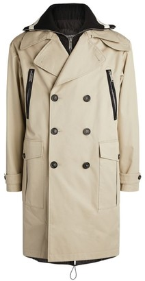 DSQUARED2 Text Print Trench Coat