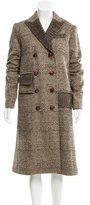 Diane von Furstenberg Dietrich Metallic-Accented Coat