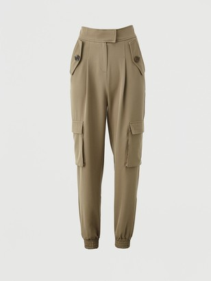 Very Utility Tailored Jogger Trousers - Khaki