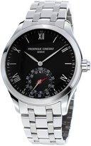 Frederique Constant Gents 42mm Horological Smartwatch w/Bracelet Strap, Silver/Black