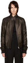 Rick Owens Black Leather Ricks Jacket