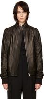 Rick Owens Black Leather Ricks Jacket