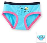 """St Eve Intimates St. Eve® Intimates Girls' 6-16 Blue """"I'm Buzz Worthy"""" Panty"""