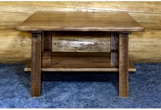 Loon Peak Abella Solid Wood Coffee Table Color: Stain & Lacquer Finish
