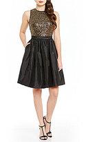 Calvin Klein Sequin-Bodice Party Dress