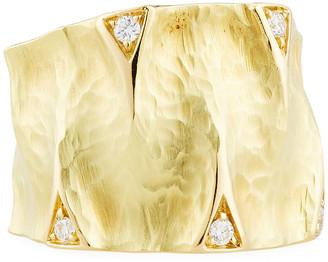 Dune Vendorafa 18K Gold Ring with Diamonds