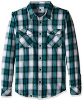 Lrg Men's Syndicate Long Sleeve Poplin Woven Shirt