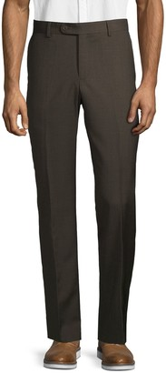 Saks Fifth Avenue Wool Flat-Front Pants