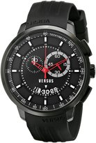 Versus By Versace Men's SGV110014 Manhattan Stainless Steel Watch with Rubber Band