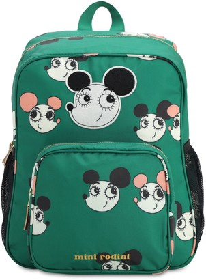 Mini Rodini Recycled Polyester Mouse Print Backpack