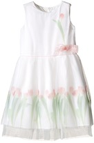 Us Angels Sleeveless Mesh Popover w/ Tulip Photo Reel Print (Toddler/Little Kids)