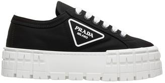 Prada Logo Wedge Sneakers