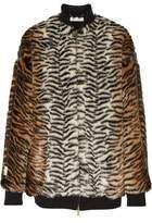 Stella McCartney Printed Faux Fur Bomber Jacket