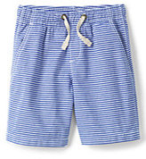 Lands' End Boys Husky Slim Pull On Stripe Short-Crisp White Stripe