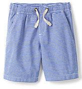 Lands' End Toddler Boys Pull On Stripe Short-Crisp White Stripe