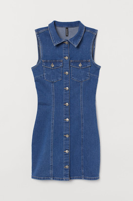 H&M Fitted Denim Dress