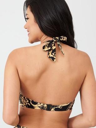 Pour Moi? Paradiso Triangle Hidden Underwired Bikini Top - Black/Gold