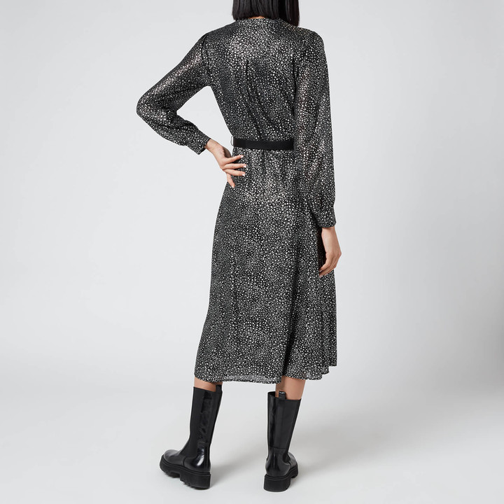 MICHAEL Michael Kors Women's Galaxy Midi Shirt Dress
