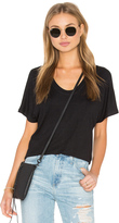Heather Rib Shirttail Tee