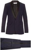Saint Laurent Le Smoking grain de poudre wool suit
