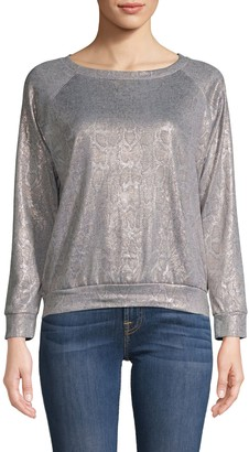 Prince Peter Collections Metallic Snakeskin Print Pullover