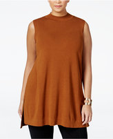 Alfani Plus Size Mock-Neck Tunic Sweater, Only at Macy's