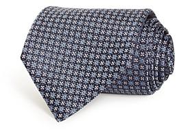 Ermenegildo Zegna Neat Floral Grid Silk Classic Tie