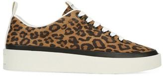 Via Spiga Mae Leopard-Print Suede Sneakers