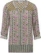 M&Co Lace shoulder floral shirt