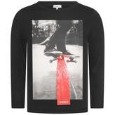 DKNY DKNYBoys Skateboarder Black Top