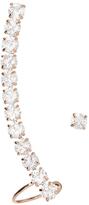 Love Rocks Crystal & Rose Goldtone Iconic Ear Climber
