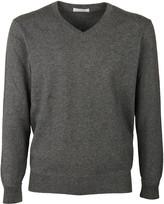 Ballantyne Curved V-Neck Sweater