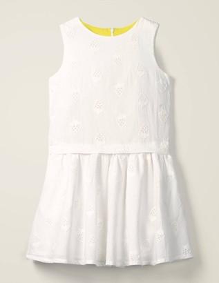 Strawberry Broderie Dress