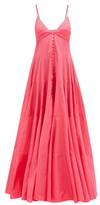 Jacquemus Manosque Bustier-panel Tiered Maxi Dress - Womens - Pink
