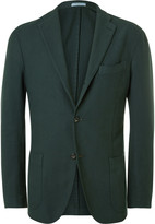 Boglioli Green Slim-Fit Cotton Blazer