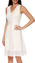 Studio 1 Mesh Fit-and-Flare Dress