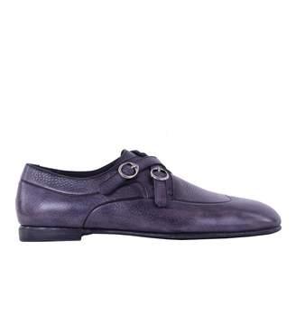 Dolce & Gabbana Purple Leather Flats