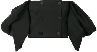 Carolina Herrera Off-Shoulder Cropped Jacket