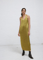 Haider Ackermann mimas yellow plisse tank dress