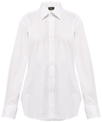 Emma Willis Houndstooth Cotton Shirt - Womens - White