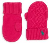 Ralph Lauren Toddler's Cable-Knit Mittens
