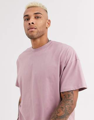 Asos Design DESIGN oversized t-shirt with crew neck in pink-Purple