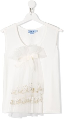 Mi Mi Sol TEEN tulle bow tank top