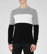 Reiss Frost Colour Block Jumper