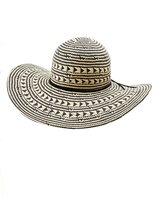 Charlotte Russe Two-Tone Straw Floppy Hat