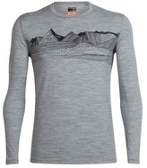 Icebreaker Men's Oasis Long Sleeve Crewe Pyrenees Graphic Baselayer