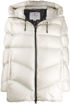Woolrich Hooded Padded Coat
