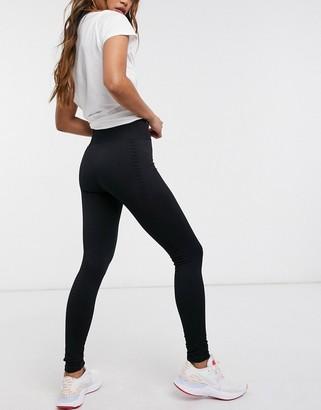 South Beach fitness seamless jacquard leggings in black