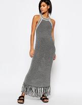 Whistles Sleeveless Crochet Knit Tank Dress